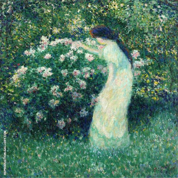 Lili Butlerin Claude Monet's Garden By Theodore Earl Butler