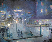 Place de Rome at Night 1905 By Theodore Earl Butler
