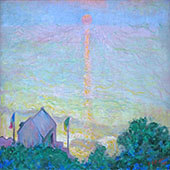 Setting Sun in Veules Les Roses By Theodore Earl Butler