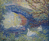 Swans Central Park 1910 By Theodore Earl Butler