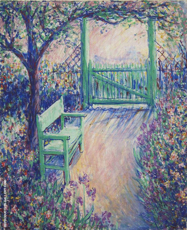 The Artist's Garden Green Chair By Theodore Earl Butler