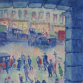 The Roman Court and Station of St.Lazare 1922 By Theodore Earl Butler