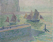 The Sea At Quiberville 1905 By Theodore Earl Butler