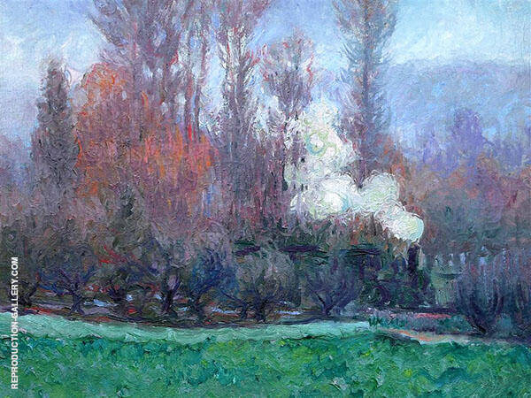 The Train at Giverny By Theodore Earl Butler