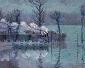 Train in Flood By Theodore Earl Butler