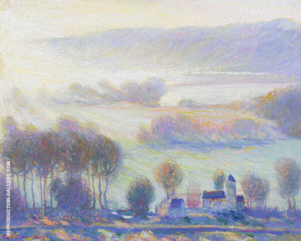 Valley at Giverny Old Mill By Theodore Earl Butler