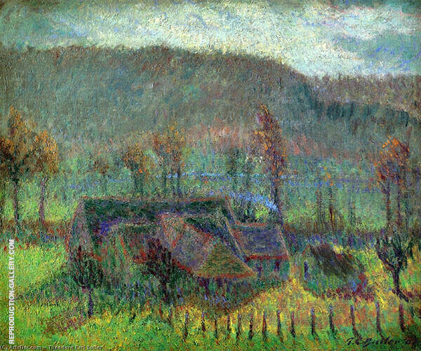 Valley Farm Cottage Giverny By Theodore Earl Butler