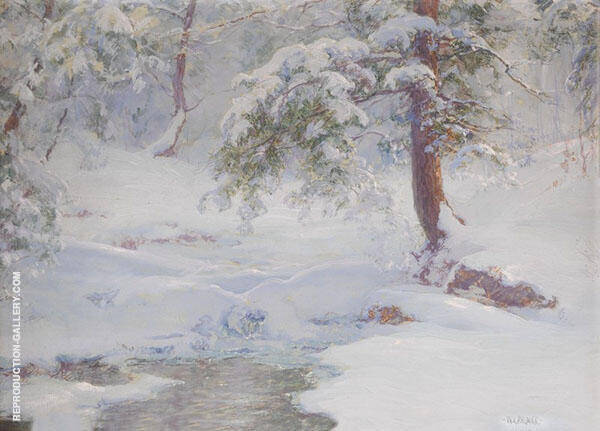 A Winter Idyll By Walter Launt Palmer