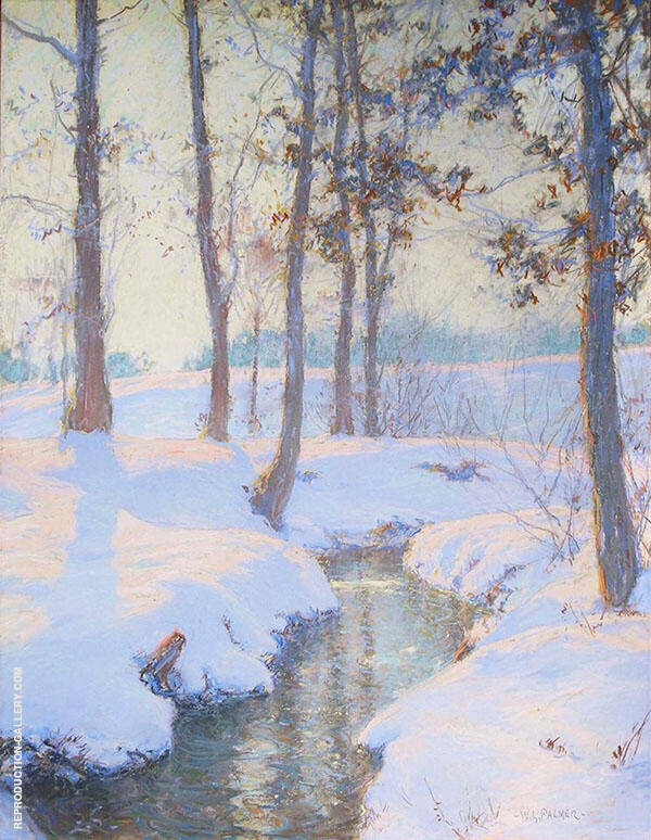 Brook in Winter By Walter Launt Palmer