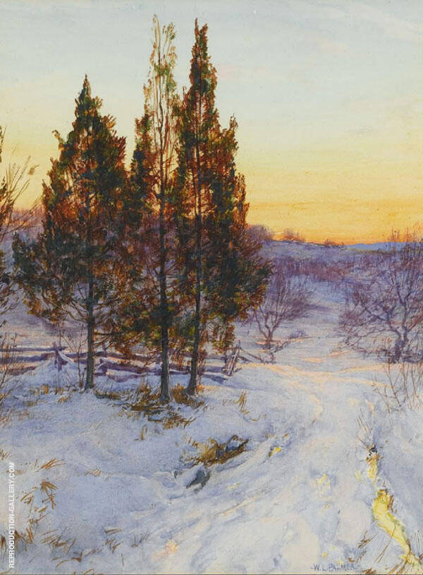 Cedars at Twilight By Walter Launt Palmer