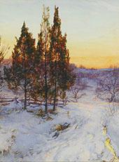 Cedars at Twilight By Walter Launt Palmer