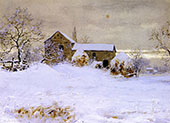 Farmhouse in Winter By Walter Launt Palmer