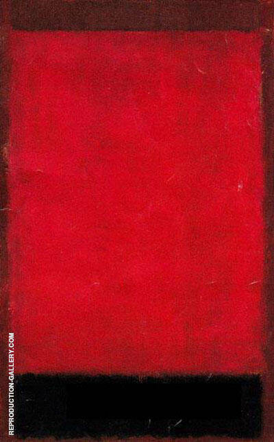 Brown, Red, Balck 1959 by Mark Rothko (Inspired By)   Oil Painting Reproduction Replica On Canvas - Reproduction Gallery