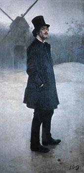 Portrait of Erik Satie 1891 By Ramon Casas