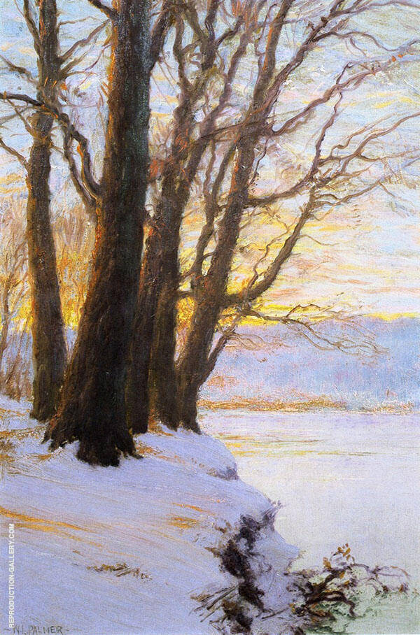 Hudson River Sunset By Walter Launt Palmer