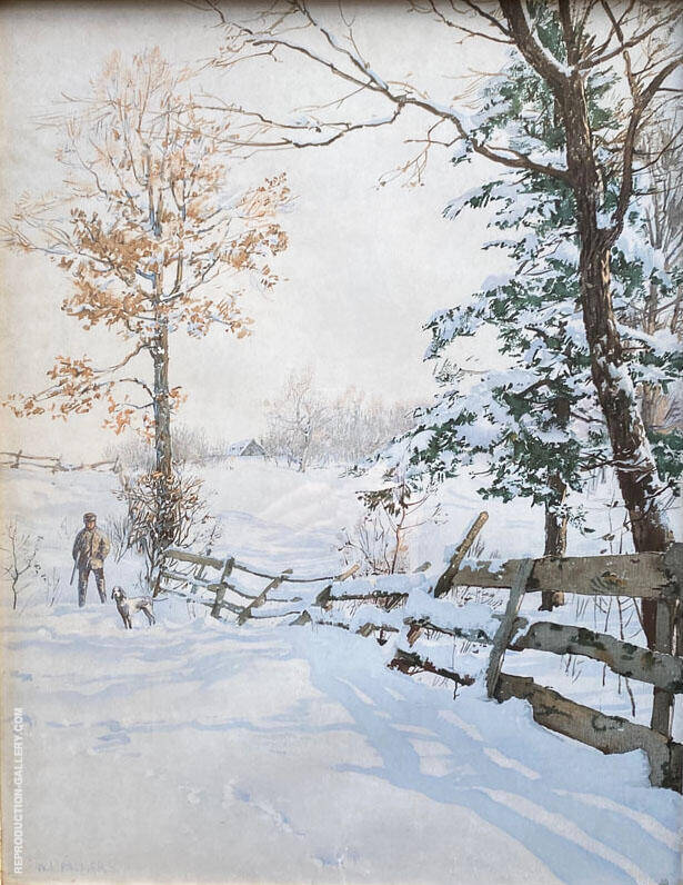 Hunter and Fence 1894 By Walter Launt Palmer