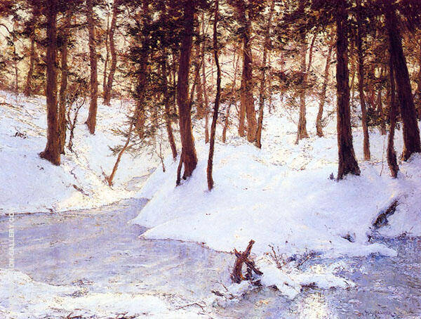 Ice in The Gleng By Walter Launt Palmer