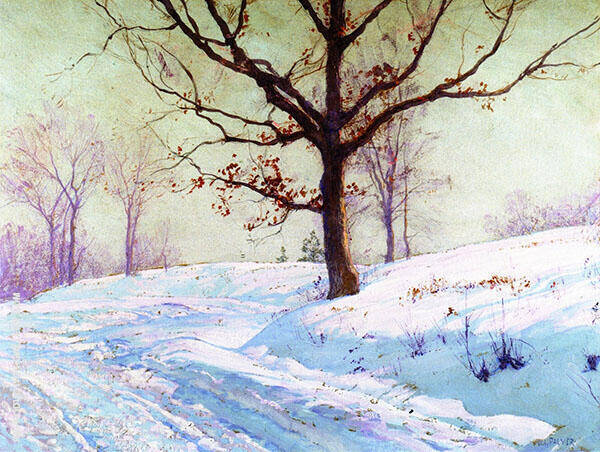 Lingering Leaves By Walter Launt Palmer