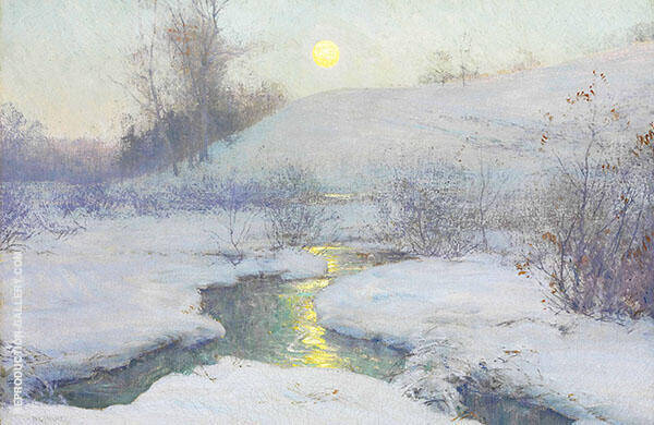 Moonrise at Dusk By Walter Launt Palmer