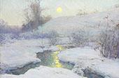 Moonrise at Dusk By Walter Launt Palmer