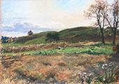 Oatfield near Van Wies Point 1884 By Walter Launt Palmer