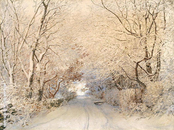Path in Winter Landscape By Walter Launt Palmer