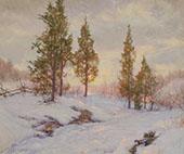 Roadside Cedars 1921 By Walter Launt Palmer