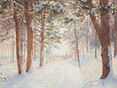Road Through a Forest in Winter By Walter Launt Palmer