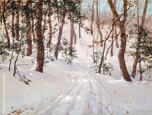 Road to Olanna 1888 Painting By Walter Launt Palmer - Reproduction Gallery