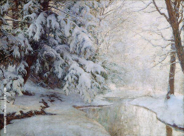 Silent Dawn Painting By Walter Launt Palmer - Reproduction Gallery