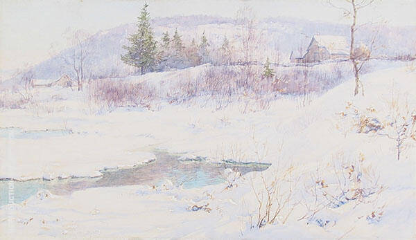 Snow and Open Waters 1898 Painting By Walter Launt Palmer