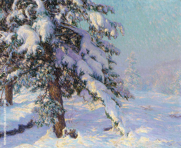 Snow Laden Painting By Walter Launt Palmer - Reproduction Gallery
