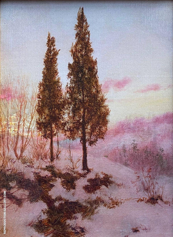 Snow Laden Sunrise in The Catskills c1905 Painting By Walter Launt Palmer