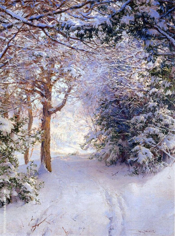 Snowy Landscape Painting By Walter Launt Palmer - Reproduction Gallery