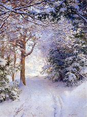 Snowy Landscape By Walter Launt Palmer