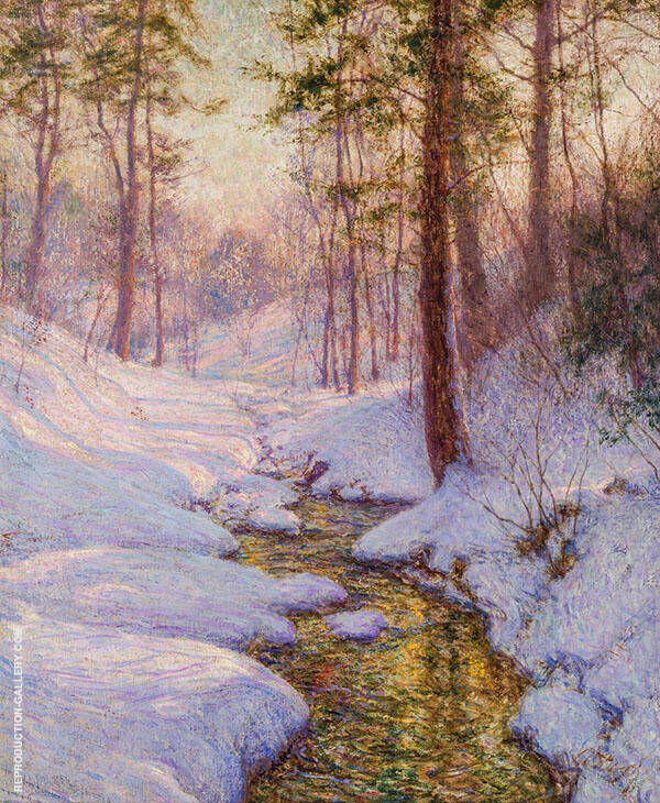 Sun and Shadow Painting By Walter Launt Palmer - Reproduction Gallery