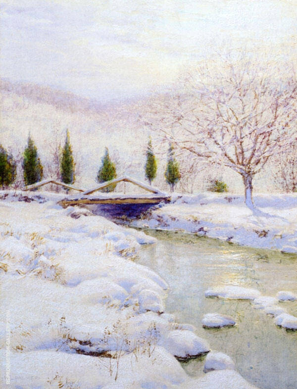 The Bridge, Winter By Walter Launt Palmer
