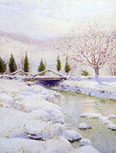 The Bridge, Winter By Walter Launt Palmer