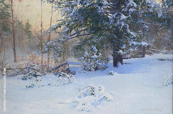 The First Snow c1890 Painting By Walter Launt Palmer