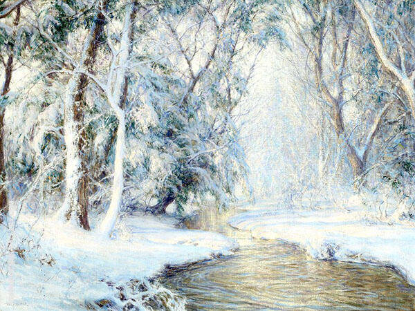 The First Snowfall Painting By Walter Launt Palmer - Reproduction Gallery
