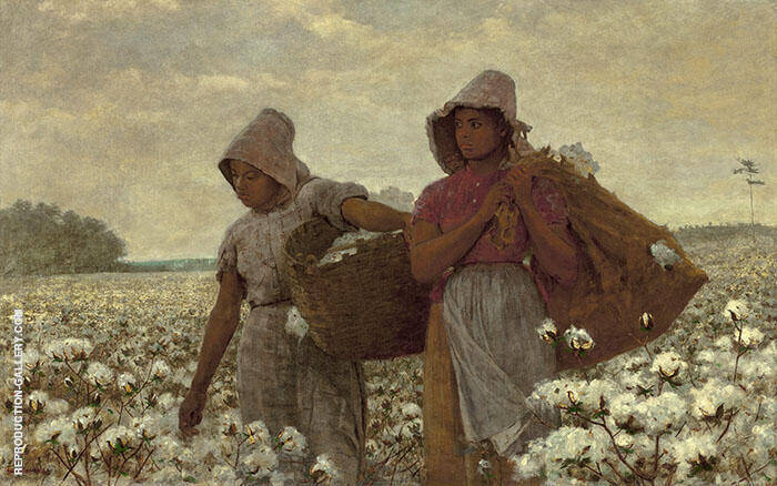 Cotton Pickers 1876 by Winslow Homer | Oil Painting Reproduction Replica On Canvas - Reproduction Gallery