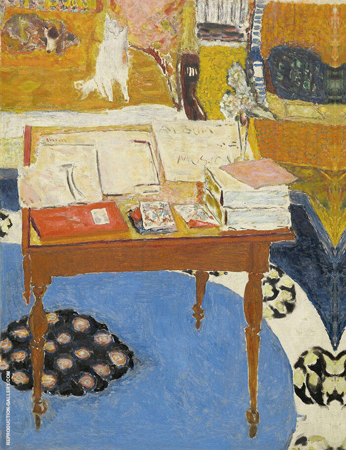 Work Table Painting By Pierre Bonnard - Reproduction Gallery