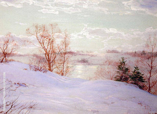 The Frozen Pond Painting By Walter Launt Palmer - Reproduction Gallery