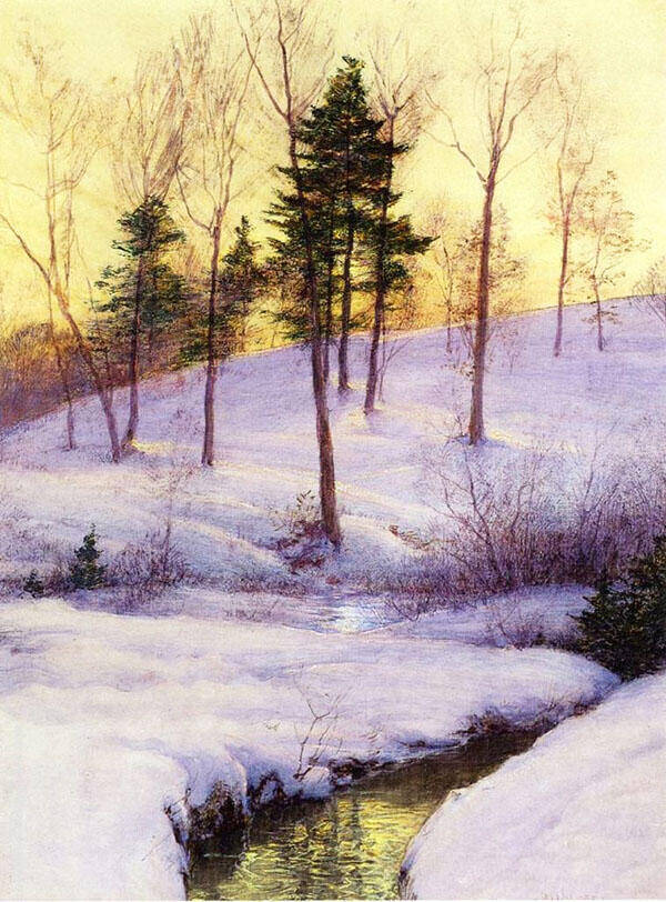 The Hillside Painting By Walter Launt Palmer - Reproduction Gallery