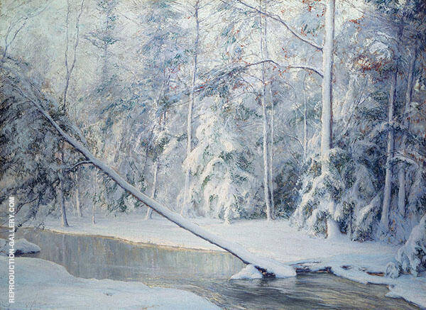 The Leaning Tree Painting By Walter Launt Palmer - Reproduction Gallery