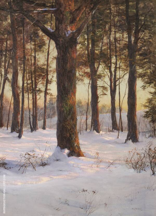 The Pine Grove c1917 Painting By Walter Launt Palmer