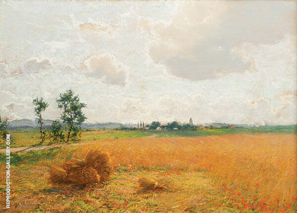 Wheatfield with Poppies1889 Painting By Walter Launt Palmer