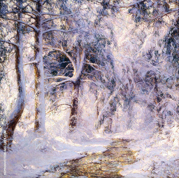 White World 1932 Painting By Walter Launt Palmer - Reproduction Gallery