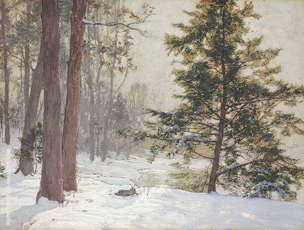 Winter Landscape Painting By Walter Launt Palmer - Reproduction Gallery