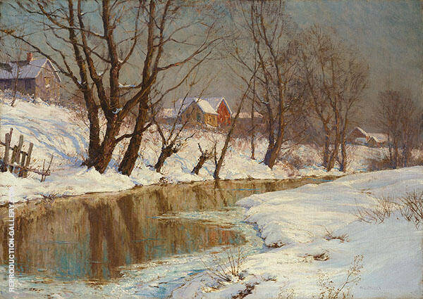 Winter Morning Painting By Walter Launt Palmer - Reproduction Gallery